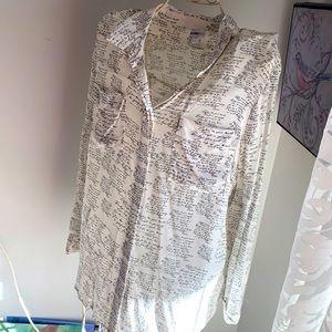 Silk blouse, size 48/18